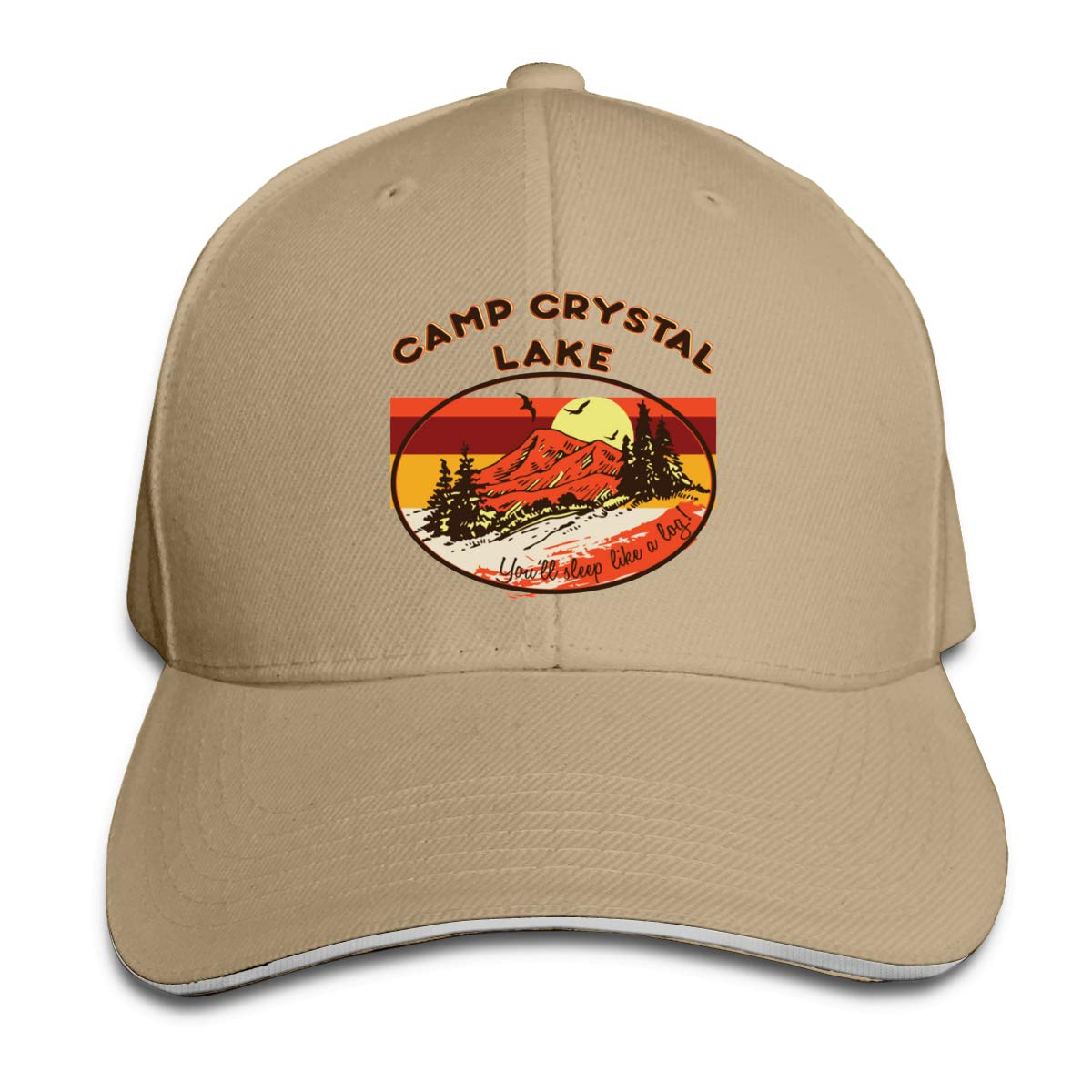 Camp Crystal Lake Unisex Adult Baseball Caps Adjustable Sandwich Caps Jeans Caps Adjustable Denim Trucker Cap