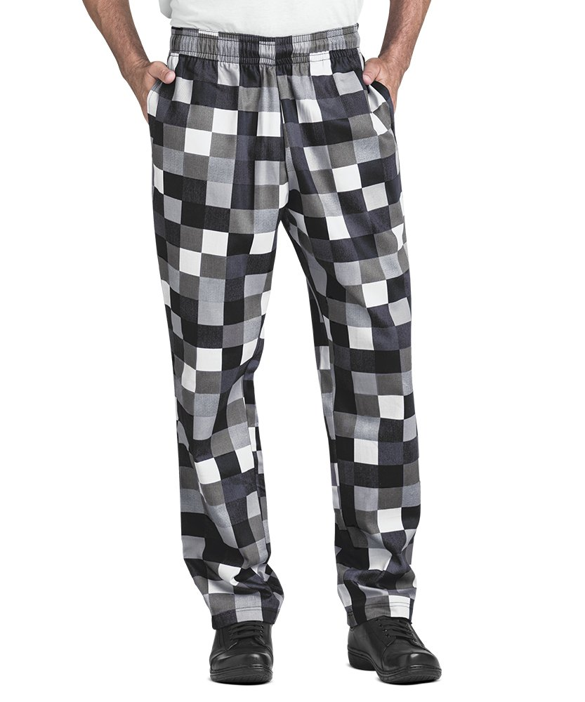 Men's Checkerboard Print Chef Pant (XS-3X) (Medium)
