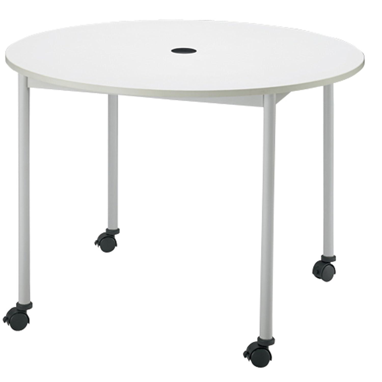 FRENZ リフレッシュテーブル ミーティングテーブル キャスター脚 Φ1000×H720mm RM-1000C ホワイト B01LXC7SS8ホワイト