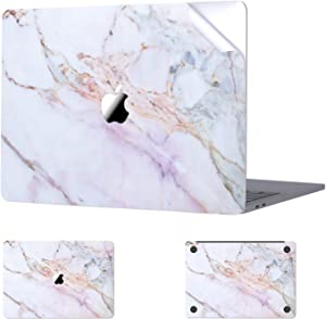 Digi-Tatoo MacBook Skin Decal Sticker Compatible with MacBook Air 13 inch 2020/2018 Release (Model A2337/A2179/A1932), Easy Apply Full Body Protective Vinyl Skin [Cracked Marble]