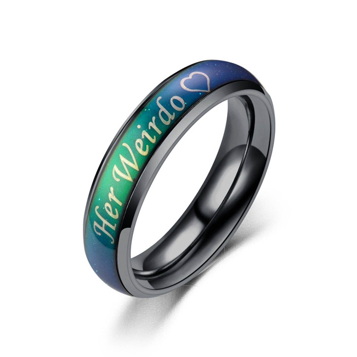 Amazon Kaiyufu Jewelers Unisex His Crazy Her Weirdo Ring Colorchang Mood For Couple Wedding Band Jewelry: Mood Ring Wedding Ring At Reisefeber.org