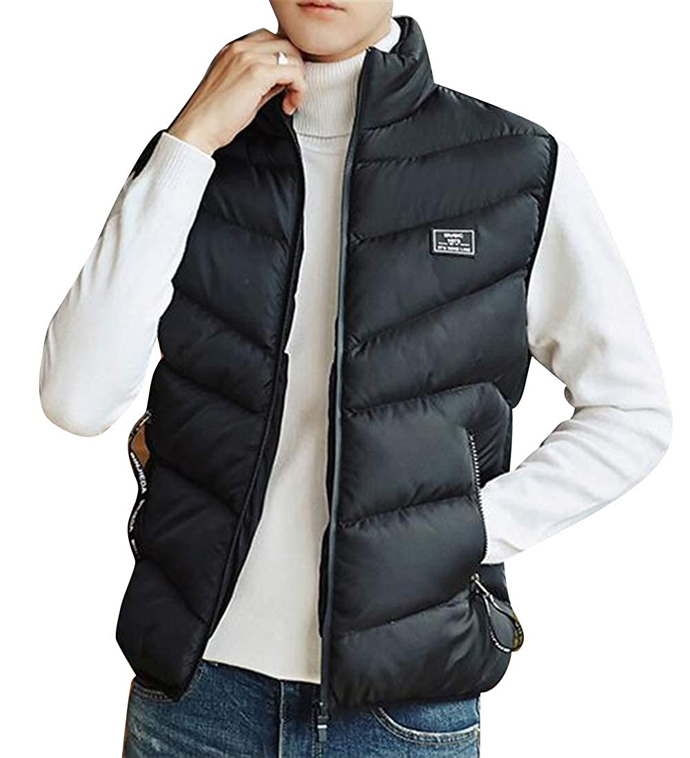 MOUTEN Mens Slim Fit Thicker Winter Plain Warm Down Quilted Jacket Coat Vest