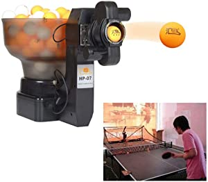 SHZICMY Automatic Table Tennis Robot, Motor Upgrade Ping Pong Table Tennis Robot Automatic Table Tennis Robot Ping Pong Training Machine Easy Assembly (US Stock)