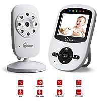 """iLifeSmart Babyphone Bébé Moniteur Vidéo sans Fil 2.3""""LCD Ecran avec Vision de la Nuit&Two-way Audio Talk&Zoom Fonction supporter 2 Mode Alimentation"""