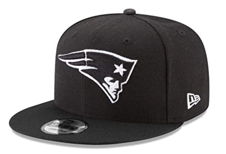 a49bd30662c Image Unavailable. Image not available for. Color  New Era New England  Patriots 9Fifty Black   White Logo Adjustable Snapback Hat NFL