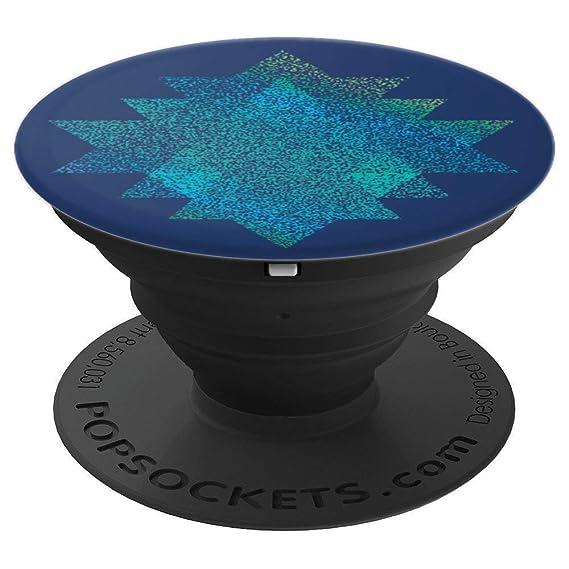 Amazon.com: Yoga Sri Yantra Design in Blue-Green on Blue ...
