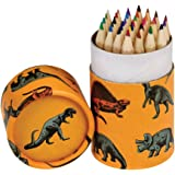 Rex London Set of 36 Colouring Pencils In a Tube - (Choice of Design - Prehistoric Land)