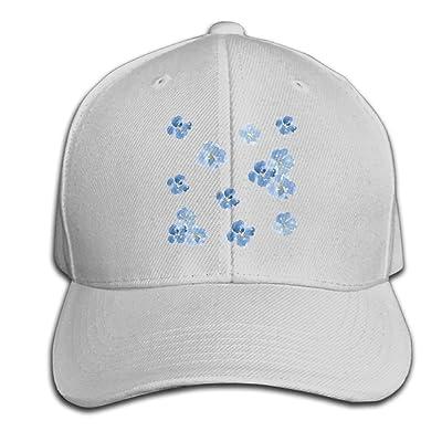 BLACKY Blue Flowers Dad Hat Baseball Cap Peaked Trucker Hats for Women Men