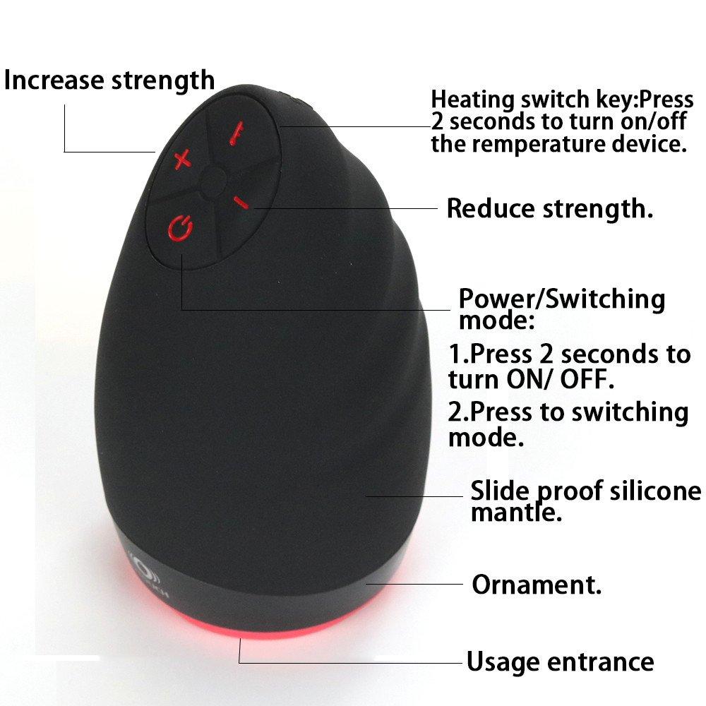 Maschio Masturbatore Elettrico Elettrico Elettrico Vibratore Realistico Sex Toys Oral Uomo Masturbation Cup 3 Intensità + 6 Modalità Di Vibrazione Vita Impermeabile IPX6 (Nero) 1362a2
