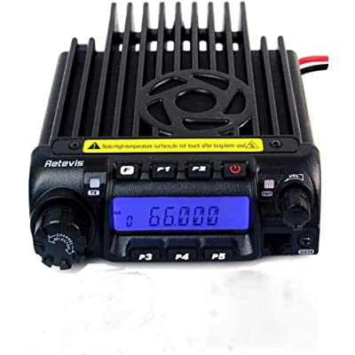Retevis RT-9000D Car Radio Mobile Transceiver VHF 66-88MHz Two Way Radio 200CH 50 CTCSS 1024 DCS VOX Amateur Ham Radio Transceiver (1 Pack)
