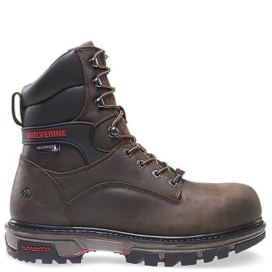 23ec6447722 Wolverine Men's Nation 8 Inch Waterproof Comp Toe-M Work Boot