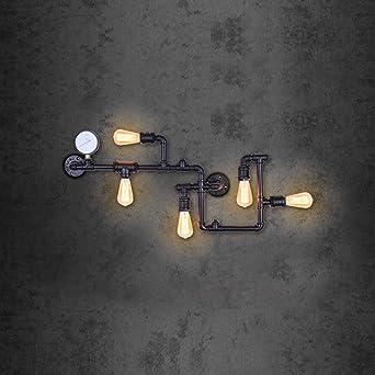 oyi Tubo Lámpara de pared, 5 focos lámpara de pared vintage luz Industries triel lámpara