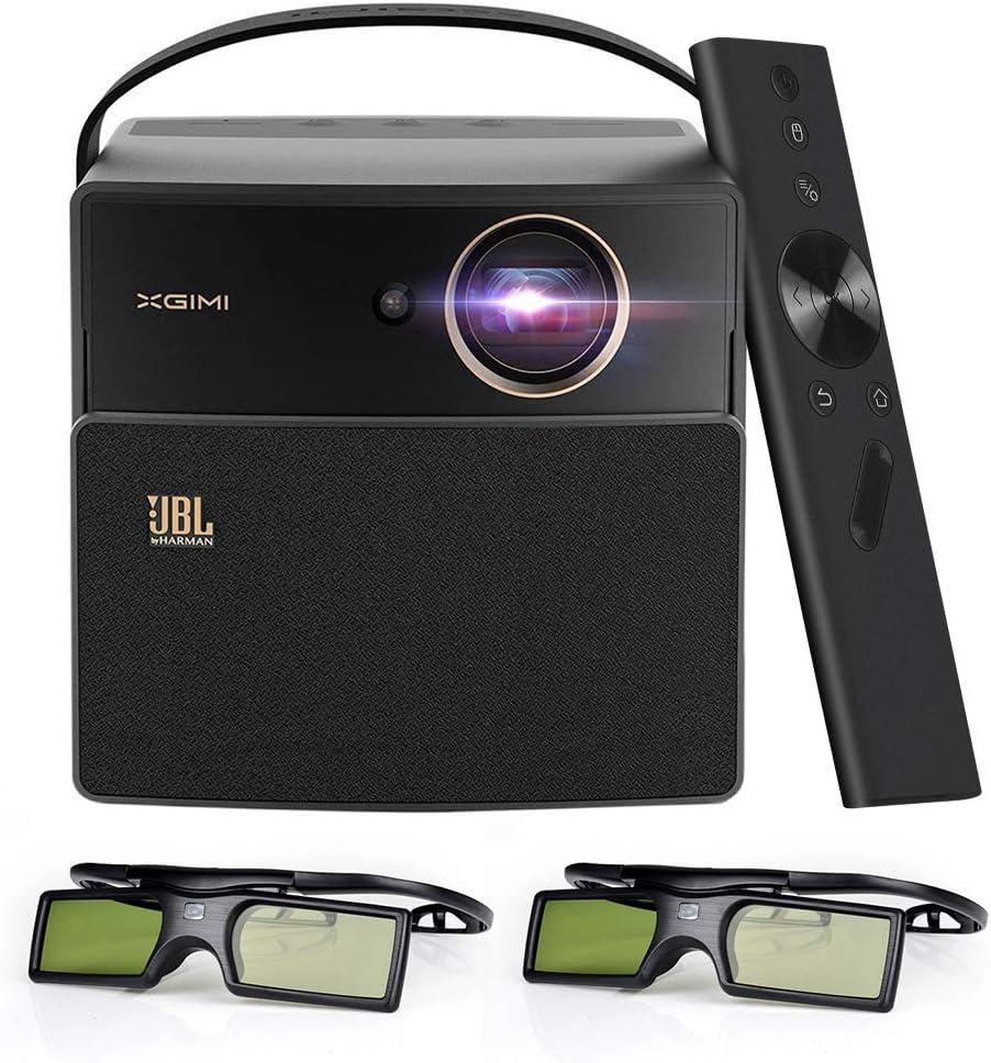 Unterst/ützung 1080P 4K Bonus Exquisite Tragetasche XIGMI CC Aurora Dark Knight 3D LED DLP-Heimprojektor DLP Link Active 3DGlasses... gebaut in 20000 mAh Akku und JBL Lautsprecher