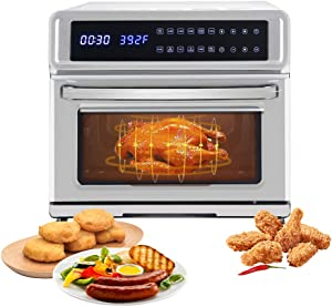Air Fryer + Oven Cooker with Temperature Control, Non-stick Fry Basket, Recipe Guide + Auto Shut Off Feature, 1700-Watt