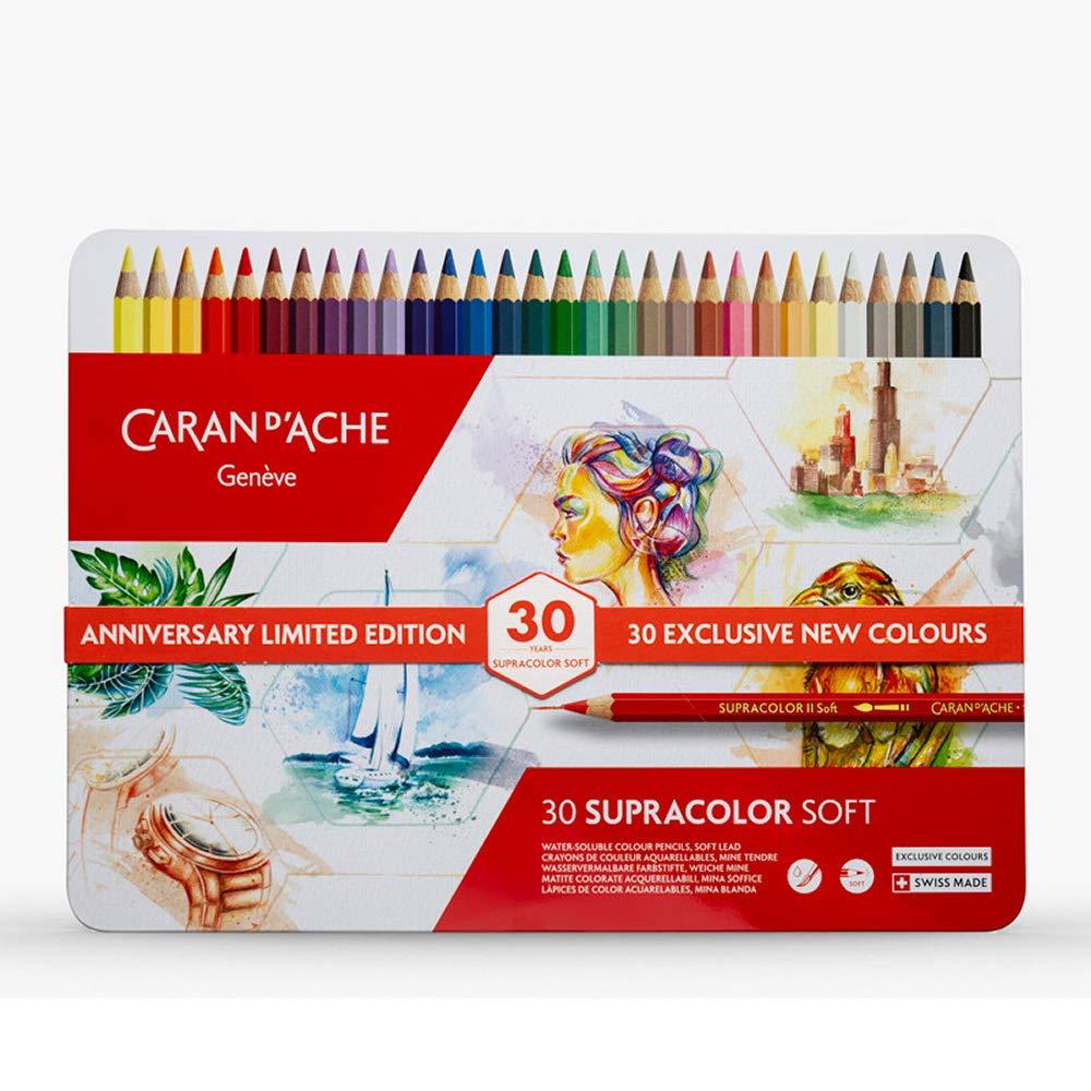 Caran d'Ache - Supracolore - Scatola Regalo 30esimo Anniversario Edizione Limitata 30 Matite Coloreate Acquerellabili 3888.830