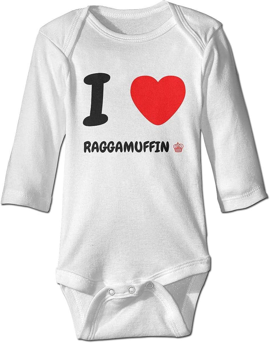 Marsherun Babys Toddler I Love Raggamuffin Long-Sleeve Bodysuit Clothes Playsuit