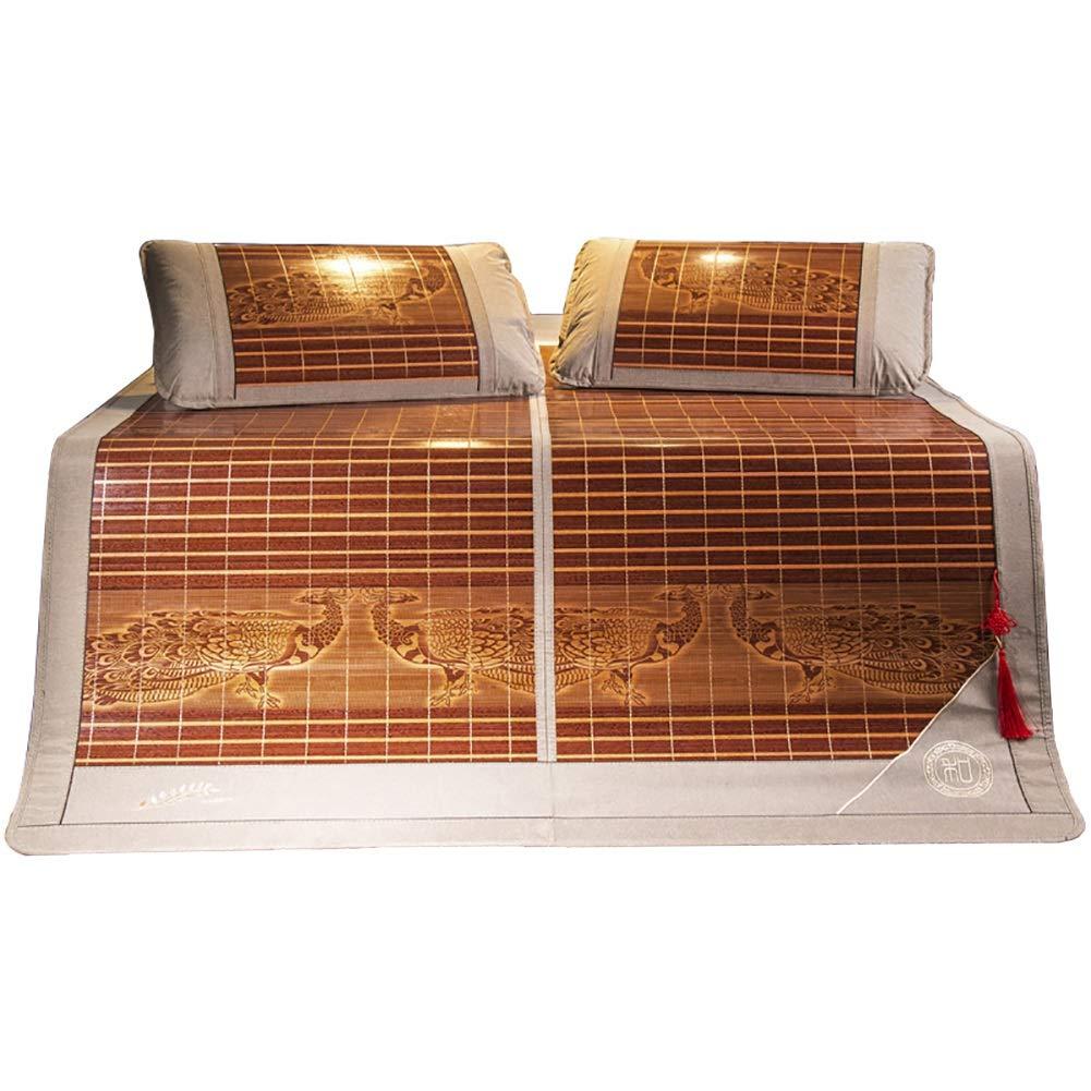 マットレス 竹の冷却マットレス折りたたみ夏スリーピングマット、夏の寝具寝室用の滑らかなエアコン完備のマット (Size : W1.5mx1.95m) B07TG1Y8LM  W1.5mx1.95m