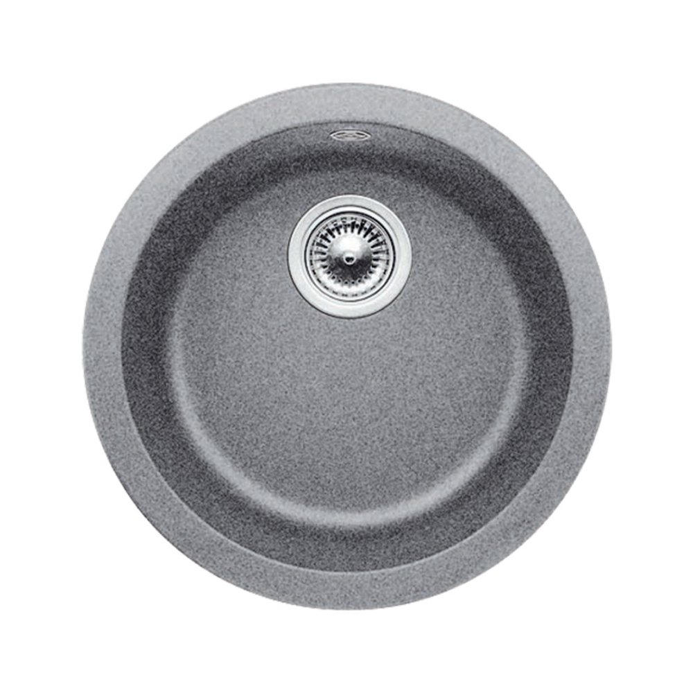 Blanco 511-633 Rondo Single-Basin Drop-In or Undermount Granite Bar Sink, Metallic Gray
