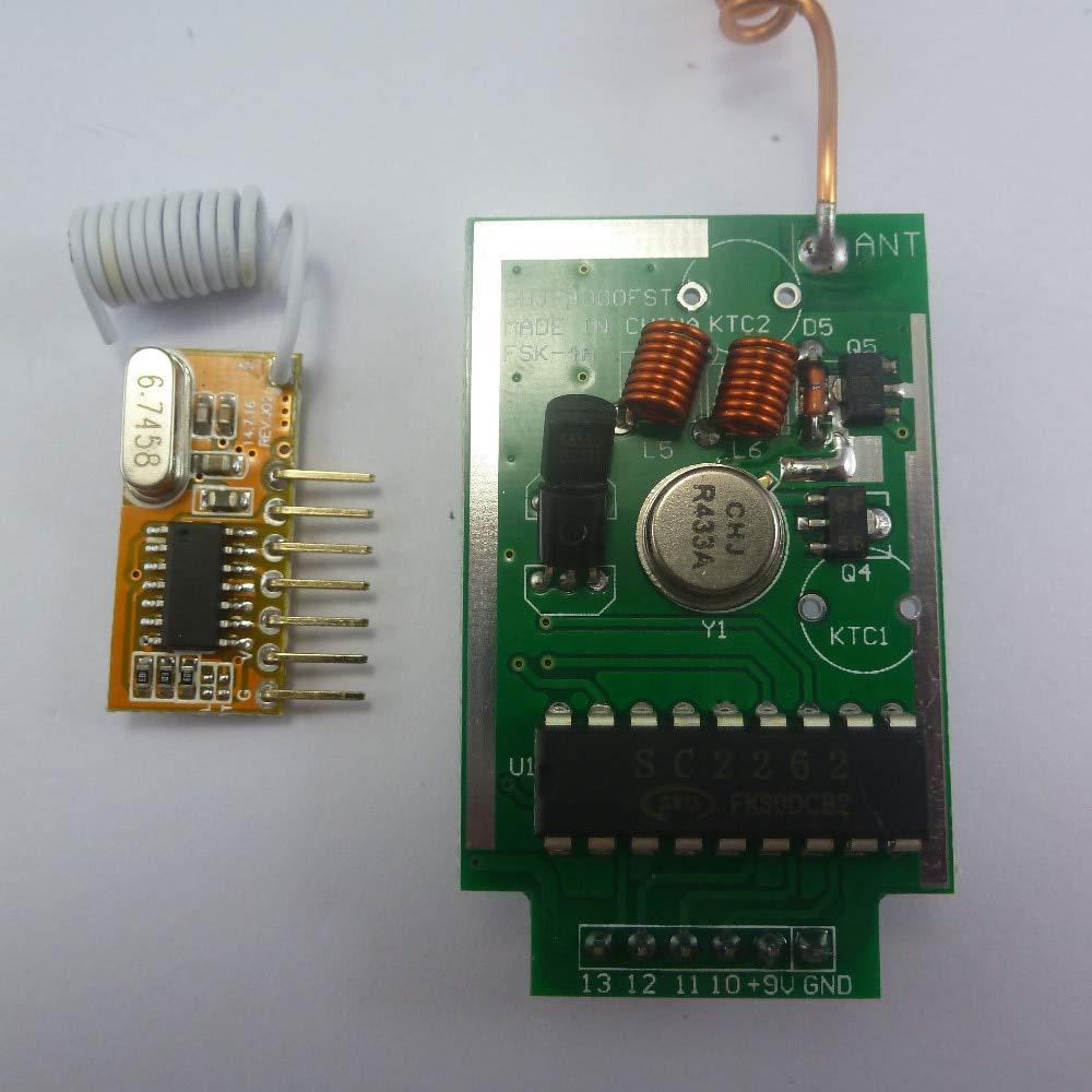 433MHz PT2262 PT2272 EV1527 Encoder for Arduino Decoder RF Transmitter Receiver Link Kit