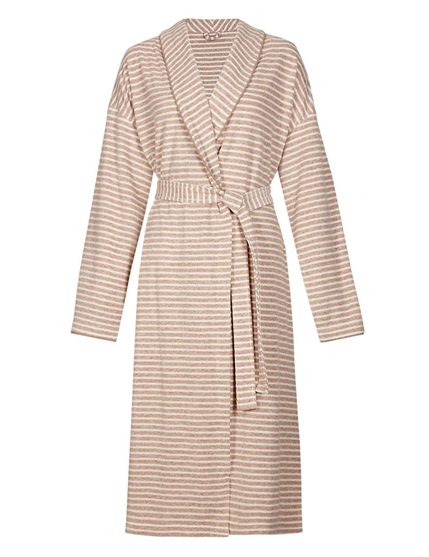 Marks & Spencer Womens Supersoft Cotton Rich Towelling Striped ...