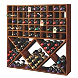 Jumbo Bin Grid 100 Bottle Wine Rack - Walnut