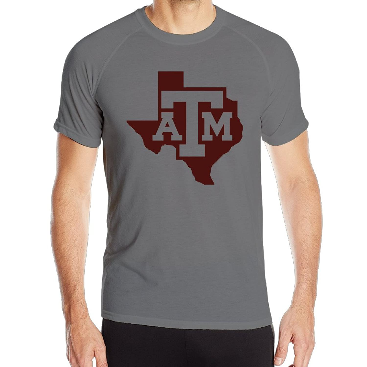 Candi Men's Texas A&m University T Shirts Summer Sports Tee DeepHeather