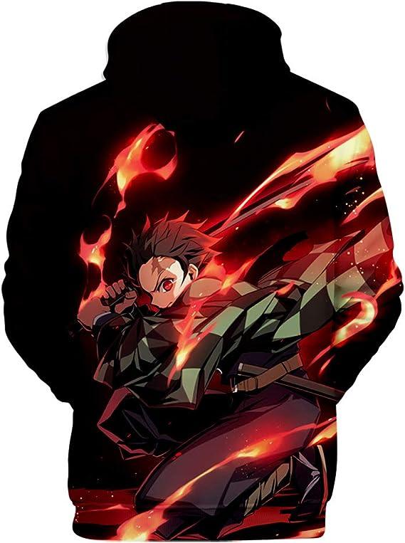 kimetsu no Yaiba Pullover Hoodies Hommes Femmes Sweat-shirt Pull Tops Demon Slayer