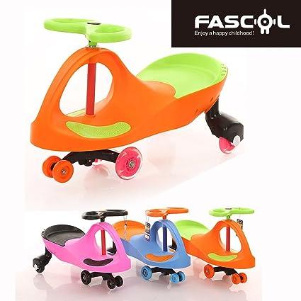Fascol Patinete Infantil Coche Correpasillos Ruedas de Poliuretano Bicicleta sin Pedales para Niños 3 y 8 Años, Naranja