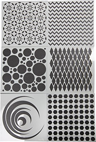School Specialty Art Screens, Geometric Designs, Set of 6 by CLEARSNAP