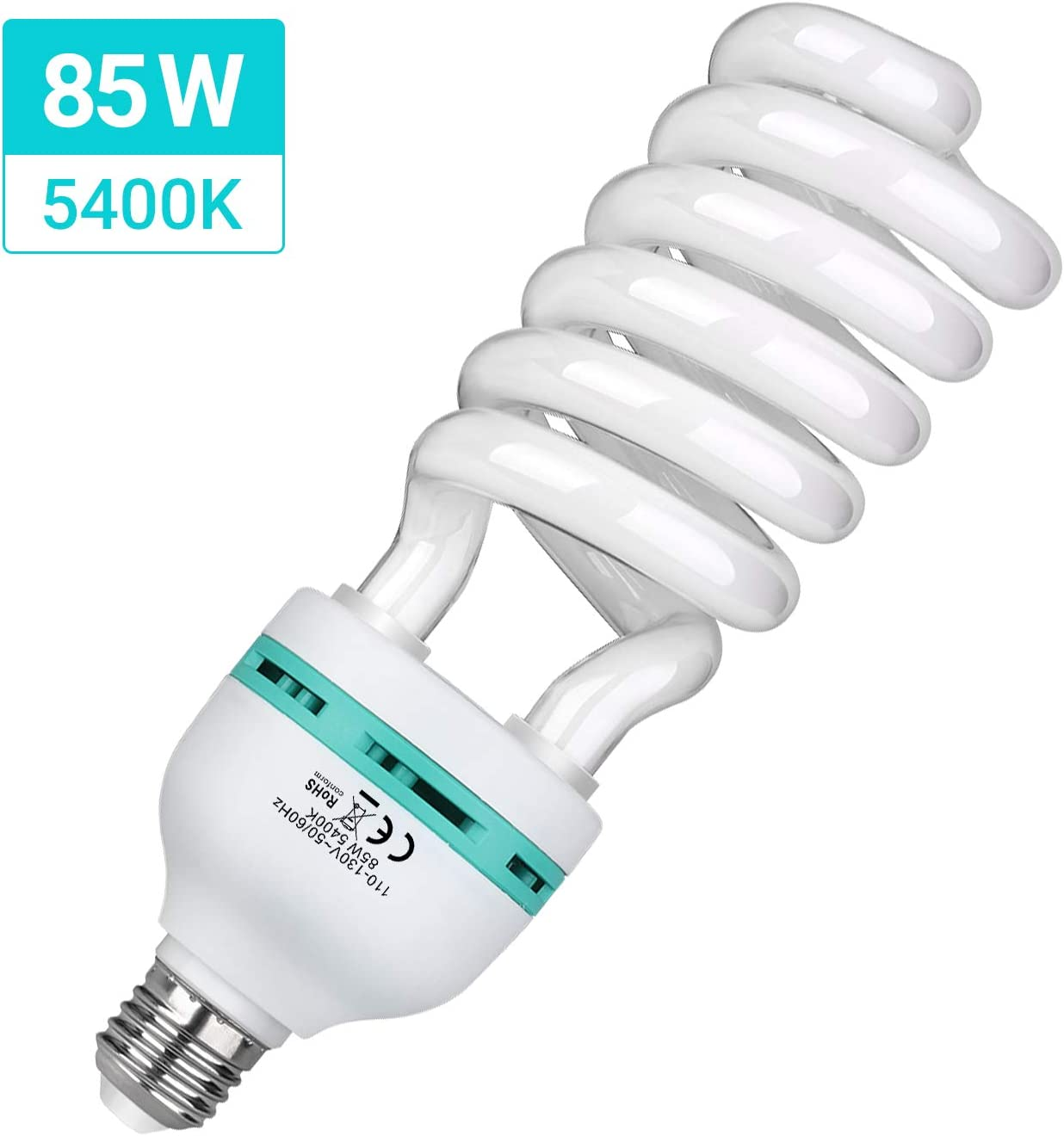 Lighting Studio Ideal for Photography and Video HPUSN 85W 110V 5400K Compact Fluorescent CFL Balanced Daylight Bulb with E27 Mount