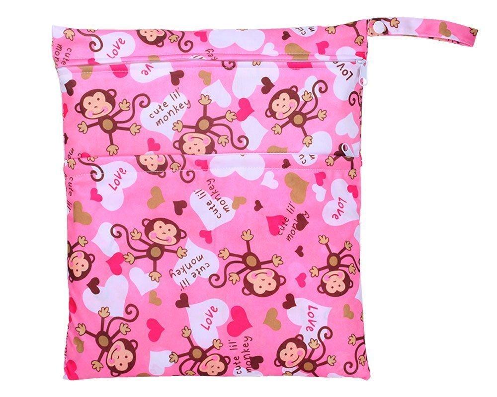 Bolsa impermeable con cremallera para pañales de bebé, lavable, reutilizable Yellowish Talla:As Shown Beito