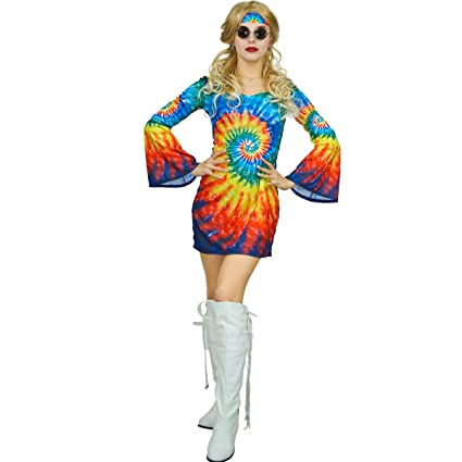 SEA HARE Señoras 60s 70s Traje Traje del Hippie del Arco ...