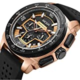 Watches for Men Waterproof Chronograph for Casual Quartz Silicone Watch for LIANDU Brand