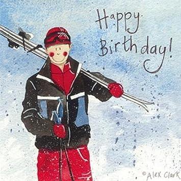Carte Anniversaire Skieur.Carte D Anniversaire Pour Un Skieur Par Alex Clark Amazon