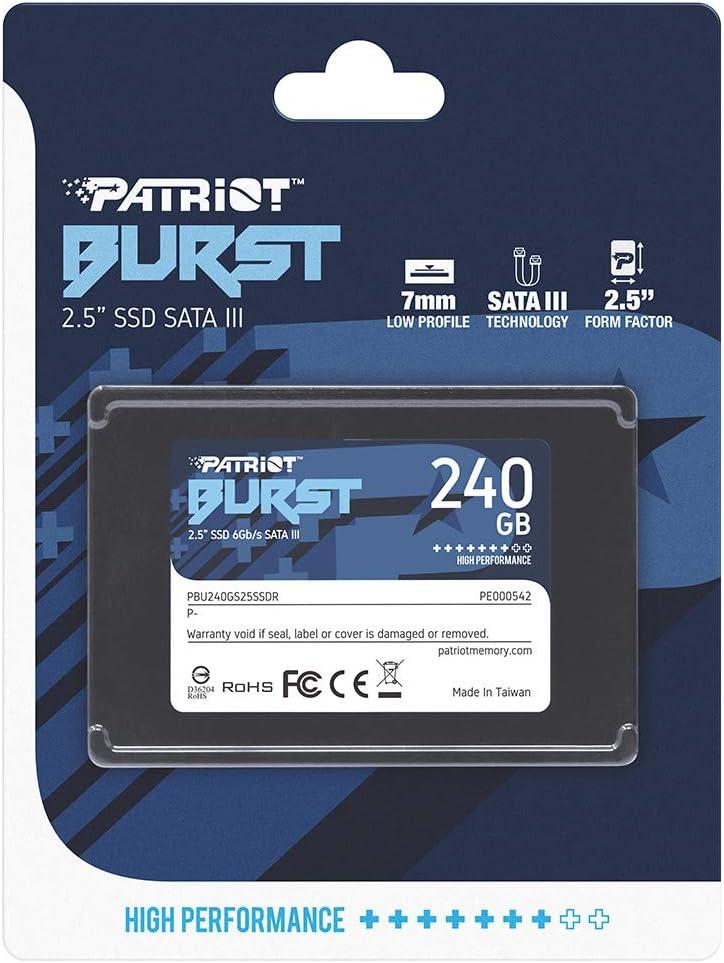 Patriot Memory Burst 240gb Sata Iii Internal Solid State Drive Ssd 2 5 Pbu240gs25ssdr Amazon Ca Computers Tablets
