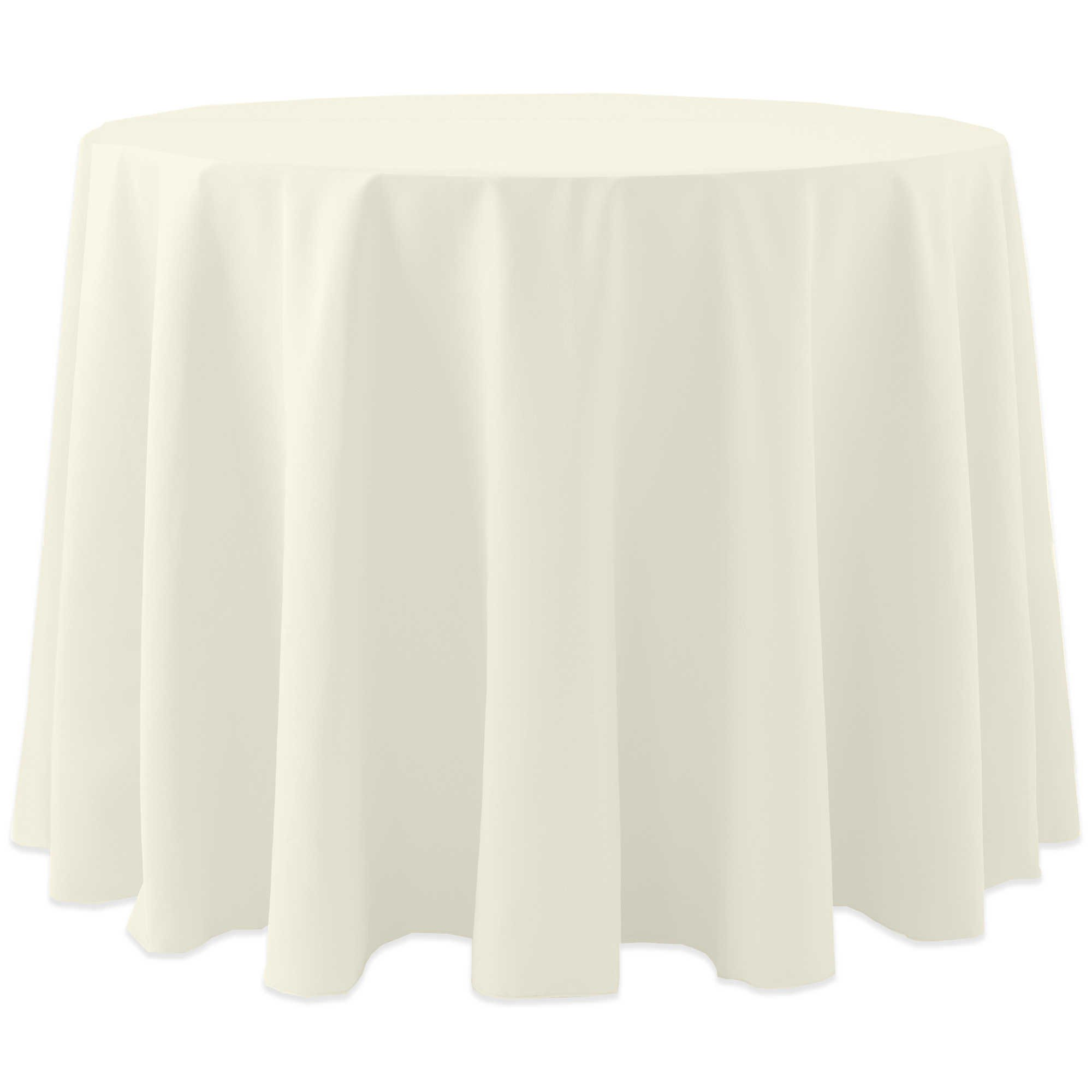 Ultimate Textile (3 Pack) Cotton-feel 84-Inch Round Tablecloth - for Wedding and Banquet, Hotel or Home Fine Dining use, Ivory Cream