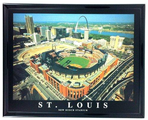 Framed Baseball St. Louis Aerial Stadium Prints New Busch Stadium F7566A - Old Busch Stadium