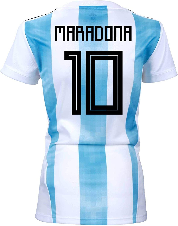adidas Maradona #10 Argentina Home Women's Soccer Jersey World Cup Russia 2018