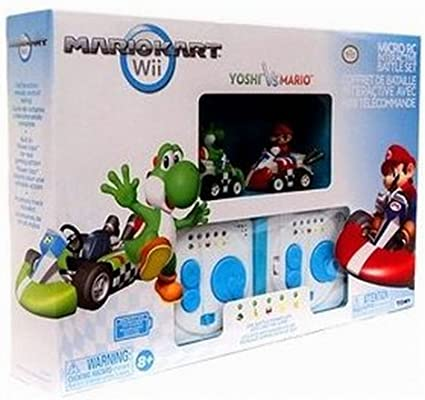 Air Hogs Mario Kart Wii Exclusive Interactive R//C Battle Set 2 Pack Mario Yoshi