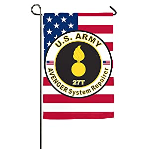 Army MOS 27T Avenger System Repairer Yard Banner Flags Springtime 27