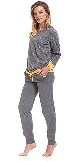 e6318bf9c3 Avidlove Damen Schlafanzug Ausgewählte Baumwolle Pyjama Top und Hose ...