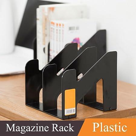 WAYER Plastic Magazine Holder Office Desktop File Holder Newspaper Holder Desk Shelves Rack File Rack & WAYER Plastic Magazine Holder Office Desktop File Holder Newspaper ...