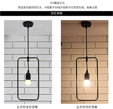 DADADAMAI Lámpara colgante moderna concisa lámparas de techo / luces clásicas colgante Geometría Sepia personalidad creativa
