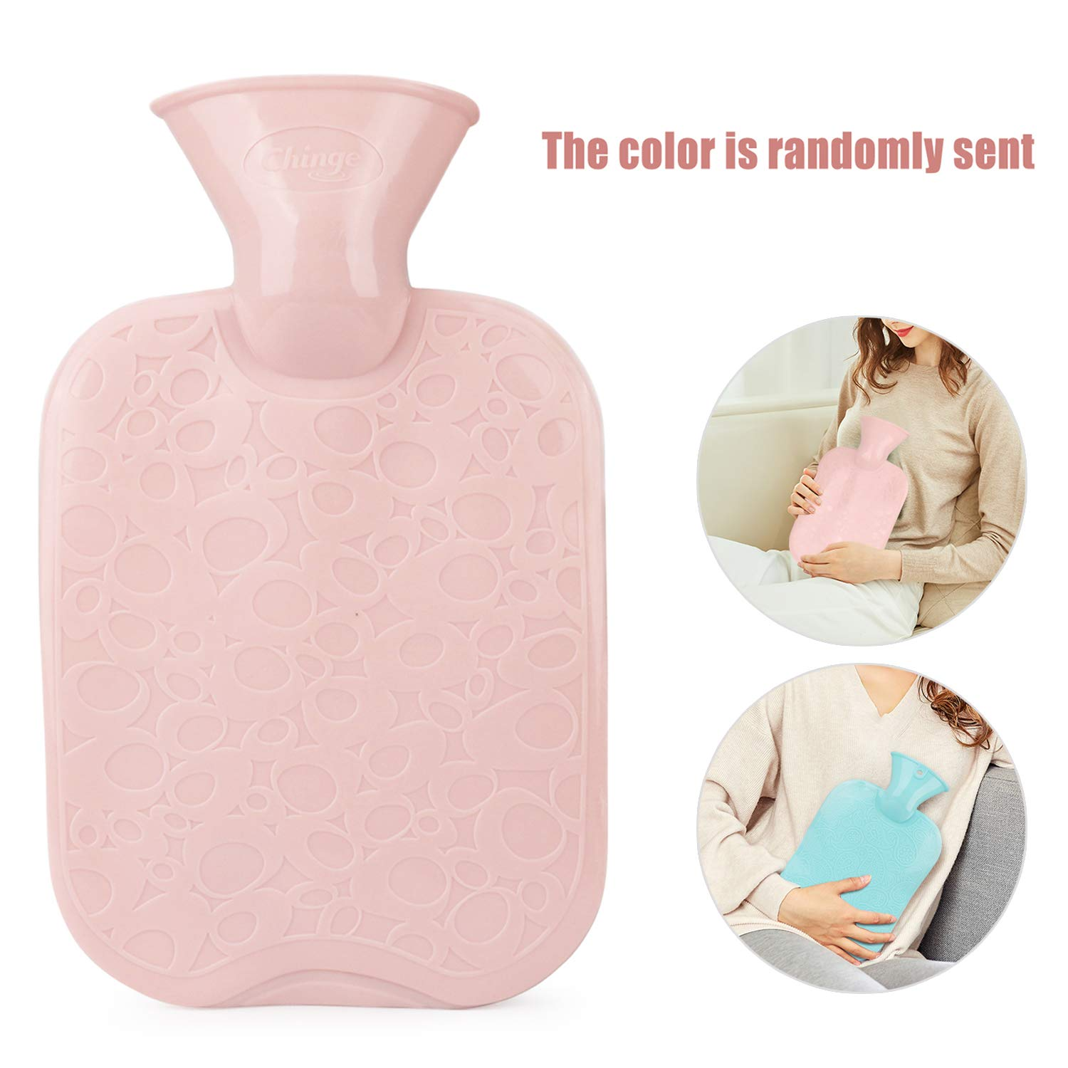 Aches and Pains Heat Therapy Cold Therapy Arthritis Idefair Hot Water Bottle with Cover,Removeable /& Washable Premium Faux Fur Cover,Large Capacity Hot Water Bag for Pain Relief for Cramps