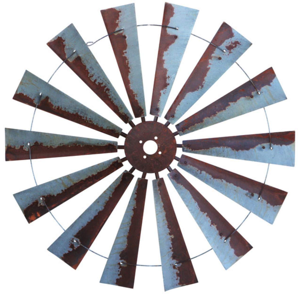 47 Inch Rusty Windmill Wall Art by South West Windmill