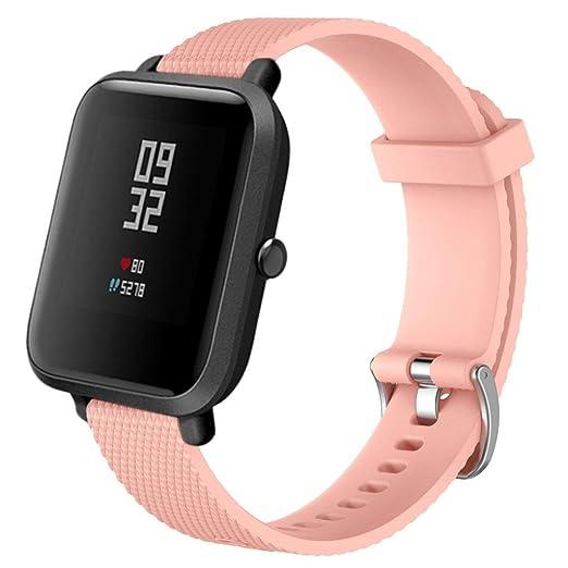 MYQyiyi Deportiva Correa de Silicona de Reloj Reemplazo para Xiaomi Amazfit Bip Youth: Amazon.es: Relojes