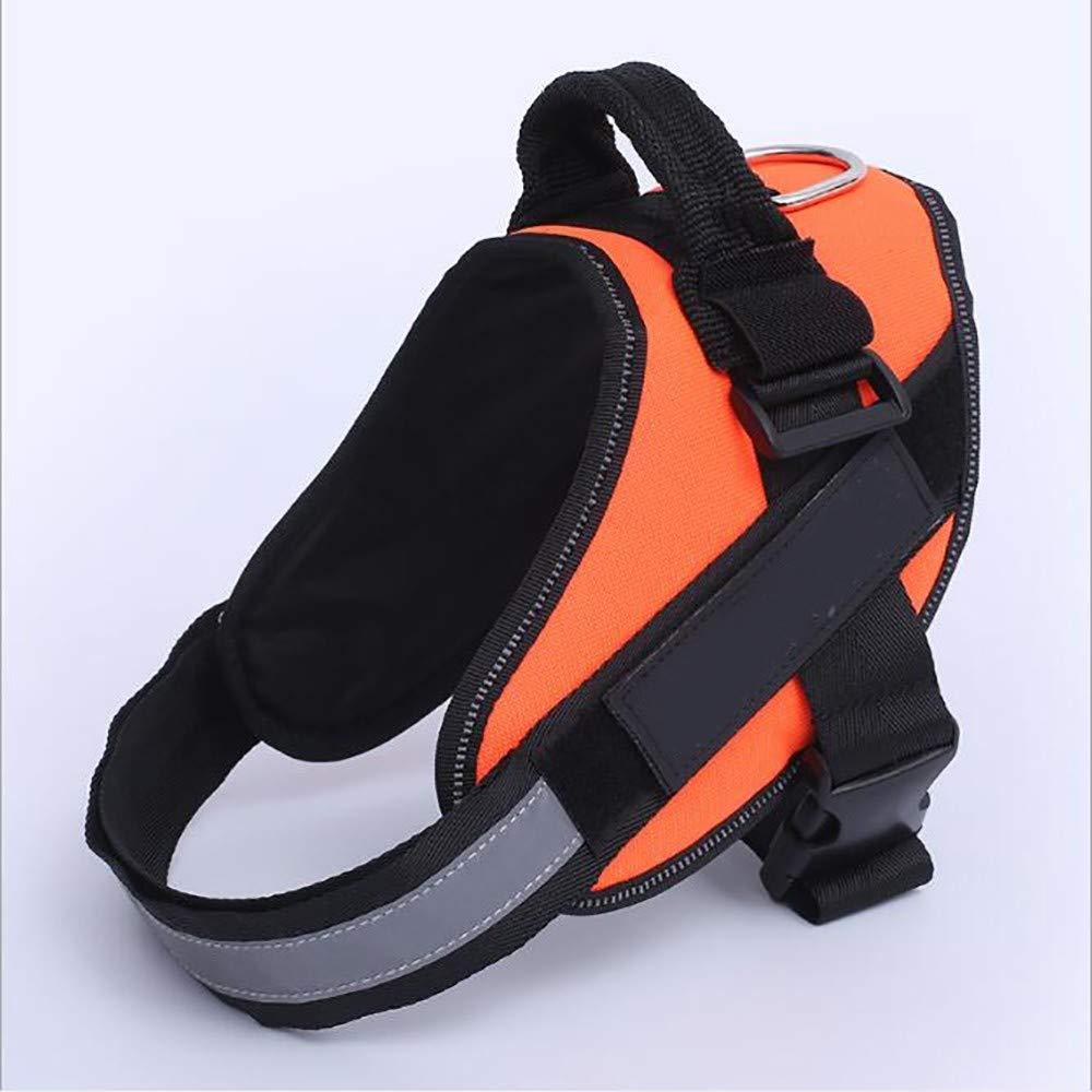orange XX-Large orange XX-Large Dog Harness,k9 Medium and Large Dog Pet Chest Strap, Gift Cotton Dog Belt, Earthquake-Resistant, Environmentally Friendly and Durable