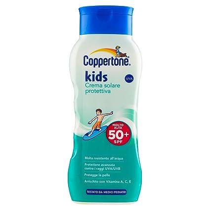 7dbad6987dd23 Coppertone, Kids Crema Solare Protettiva Fps 50+, con Vitamine A, C ...