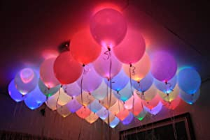 Bundle of 20 Blinking LED Balloons: Amazon com: Qarshi