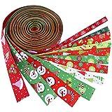 Outus Christmas Grosgrain Ribbon Winter Holiday Ribbon Each 6.6 Feet, 12 Pieces, Total 79.2 Feet, Multicolor